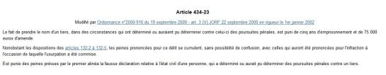 Article 434-23