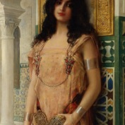 Comerre_Leon_Francois_An_Eastern_Beauty_Oil_on_Canvas-large - arc