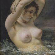 Femme a la vague Courbet
